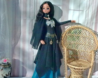 """bjd 1/3 Smart doll clothes Witch dress for Halloween set of dress+ belt +necklace )  for dolls 24""""/60cm like Smart doll and similar in size"""