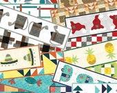 Grunge Love Table Runner Club DLL83 DIY Pattern Applique -