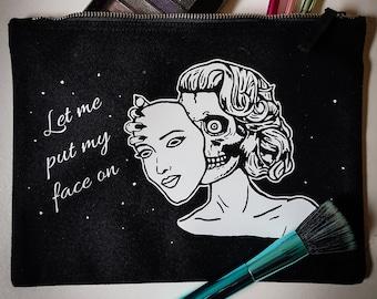 Zombie Face Makeup / Pouch Bag