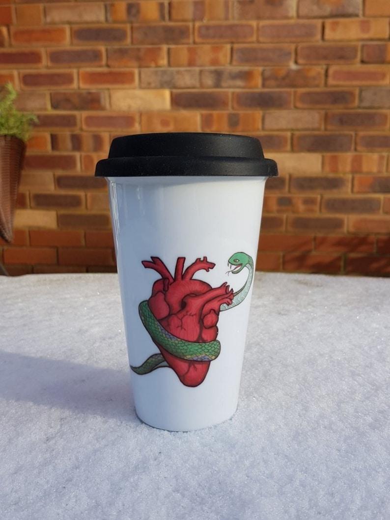 Snake Heart Travel Mug image 0