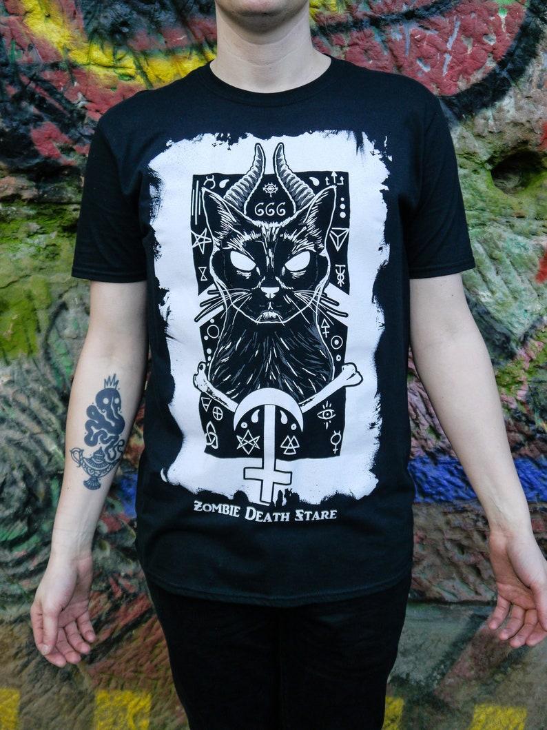 Demonic Cat Shirt image 0