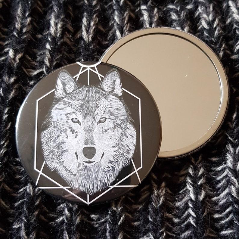 Wolf Pocket Mirror image 0