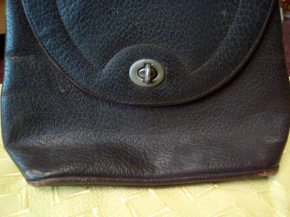 Vintage Handbag, 30s/40s Brown Leather, Soft body… - image 4
