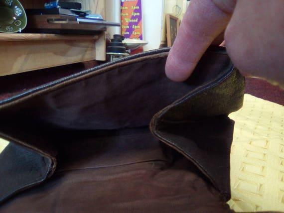 Vintage Handbag, 30s/40s Brown Leather, Soft body… - image 7