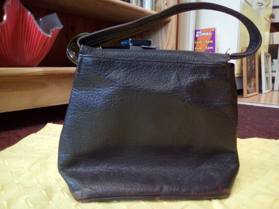 Vintage Handbag, 30s/40s Brown Leather, Soft body… - image 2