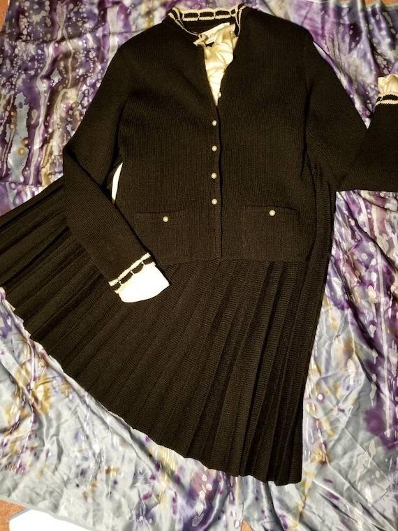 Vintage knit swing suit