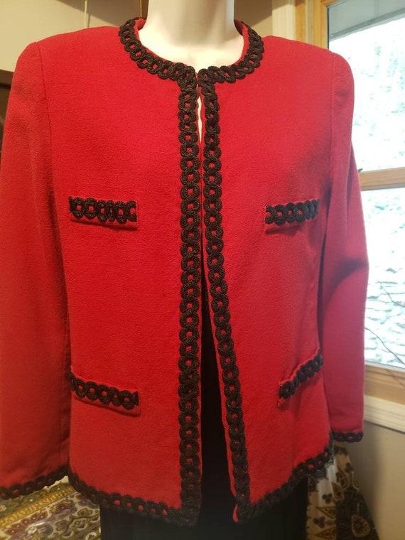 Vintage Lilli Ann mohair/wool silk lined jacket