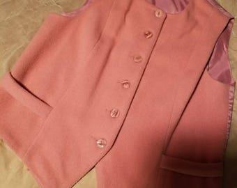 Herman Geist pink wool cashmere vest size 8