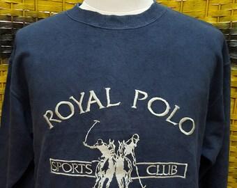 c11d29c3bf92a Vintage ROYAL POLO   Polo Club   big embroidery logo   very nice designed    Medium size on tag (P03)
