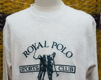 e937d917e8261 Vintage ROYAL POLO   Polo Club   big embroidery logo   very nice designed    Medium size on tag (S33)