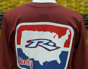 2e609474 Vintage RUSTY SURFBOARDS / big logo / surf surfing style sweatshirt (M29)