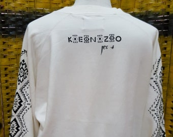 Vintage KENZO PARIS/ big logo / very nice designed / Large size sweatshirt (X109)