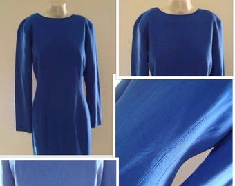 80's Fitted Jersey Dress by Carol Anderson (M)