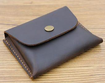 Large-Capacity Card Wallet, Leather Card Holder, Business Card Holder, Leather Coin Wallet, Coin Purse, Leather Wallet, Cardholder Men