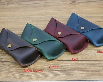 Glasses Case Leather, Glasses Box, Eyeglass Case,Leather Sun glasses case, leather glasses case,leather glasses pouch, eyeglasses case