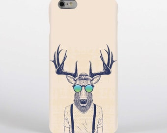 e47b1a9b2f31 Stag Deer Man Wearing sunglasses Glasses Phone Case   Cover for iPhone Case  or Samsung Phone Case   Phone Cover - FREE UK Delivery