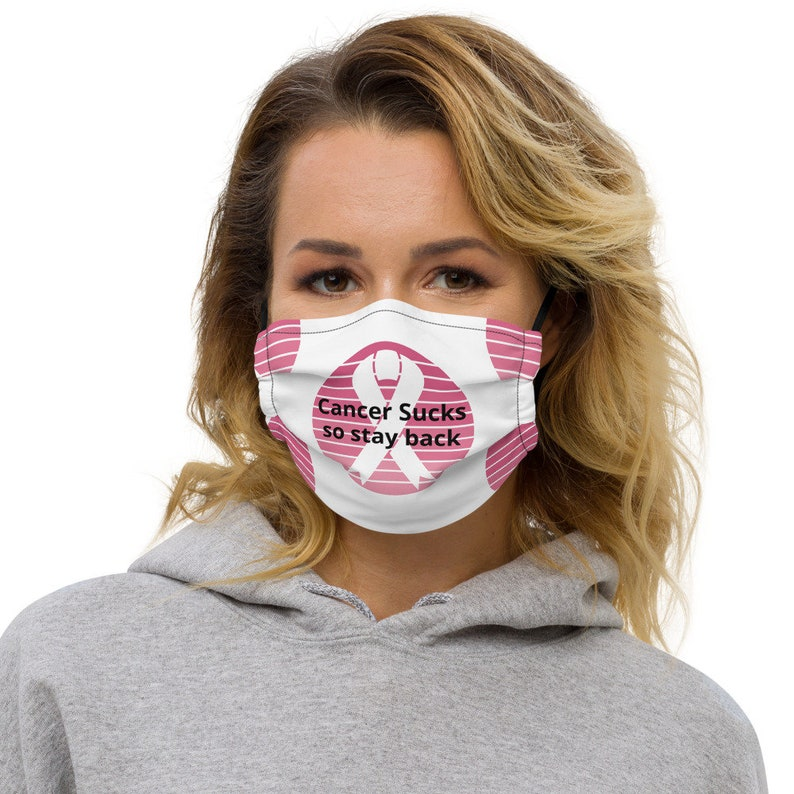 Cancer Sucks so stay back Face mask image 0