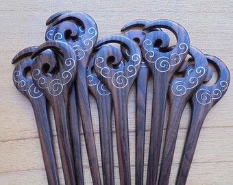 Single Prong Hair Accessories HS500 BONE Bone Hair Sticks Siamese Betta Fish Hair Sticks