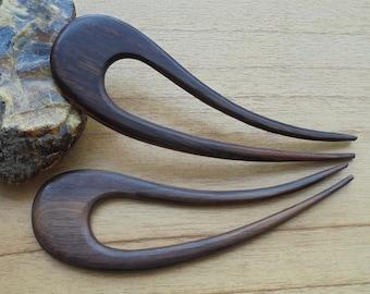2 Prongs Wood Hair Sticks, Hair Pin, Hair Fork, Hair Accessories HS37