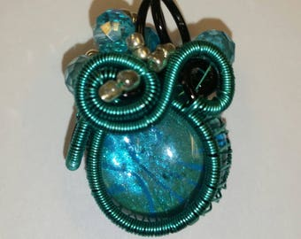 Painted Glass Pendant
