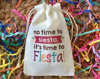 Cinco de Mayo or Mexican Fiesta Party Favor Bags - Set of 10 (Item 1451A)