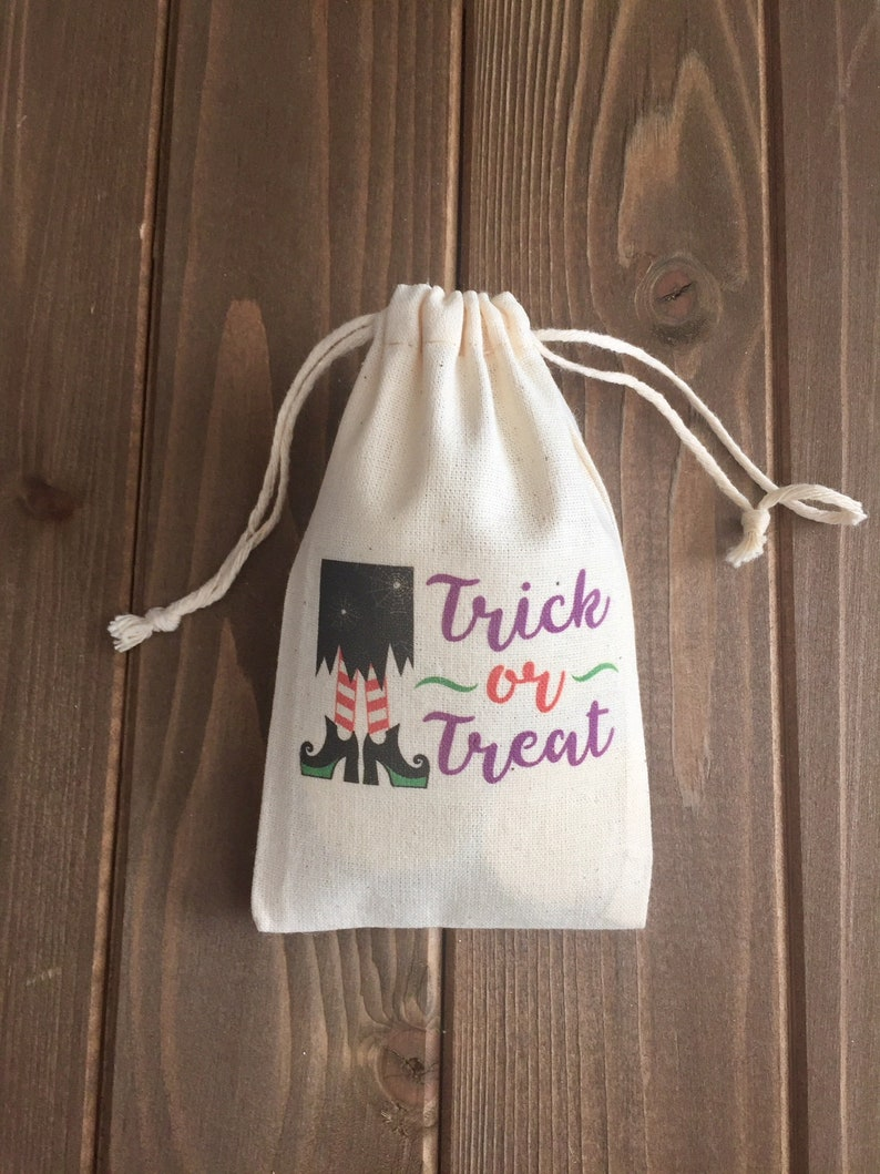 Item 1625A Halloween Party Favor Bags  Trick or Treat Witch  Set of 10