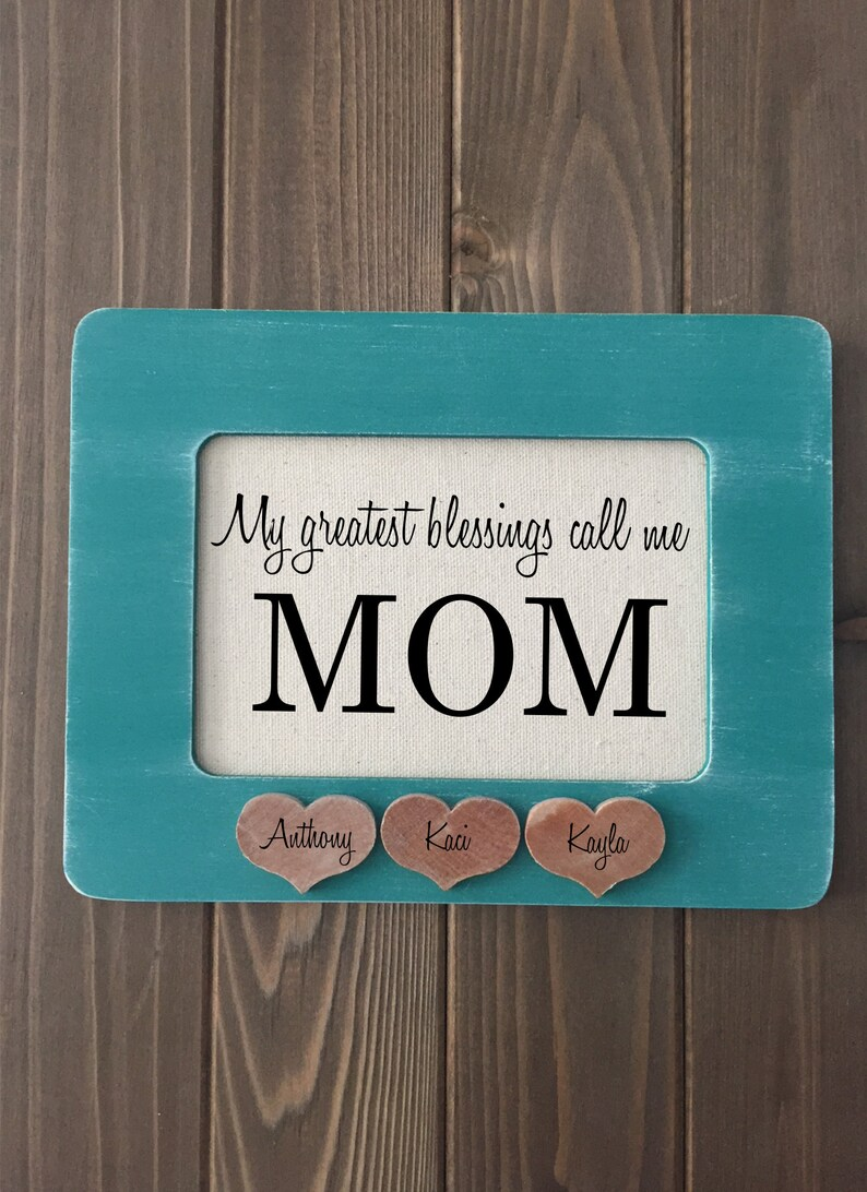 My Greatest Blessings Call Me Mom Print with Personalized