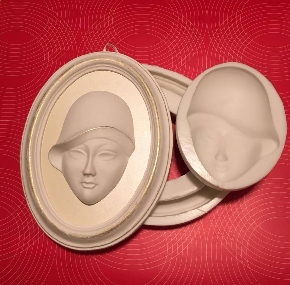Silikon Form Gesichtsrahmen 25 cm. NON-FOOD