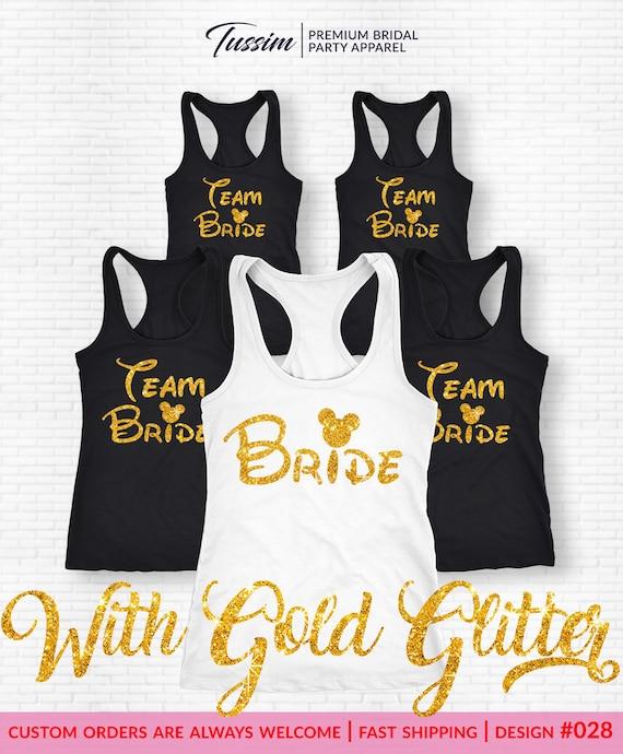 Team Bride T-ShirtBride Tank Top Bachelorette Party Shirt  c2e7d2fd272c