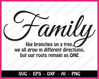 Family Quote Svg Etsy