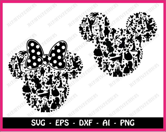 mickey mouse svg disney svg minnie mouse svg mickey head etsy