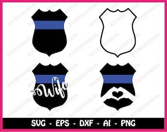 Police badge svg, Police badget bundle svg, police bundle svg, police svg, svg files, svg, cricut, silhouette, instant download