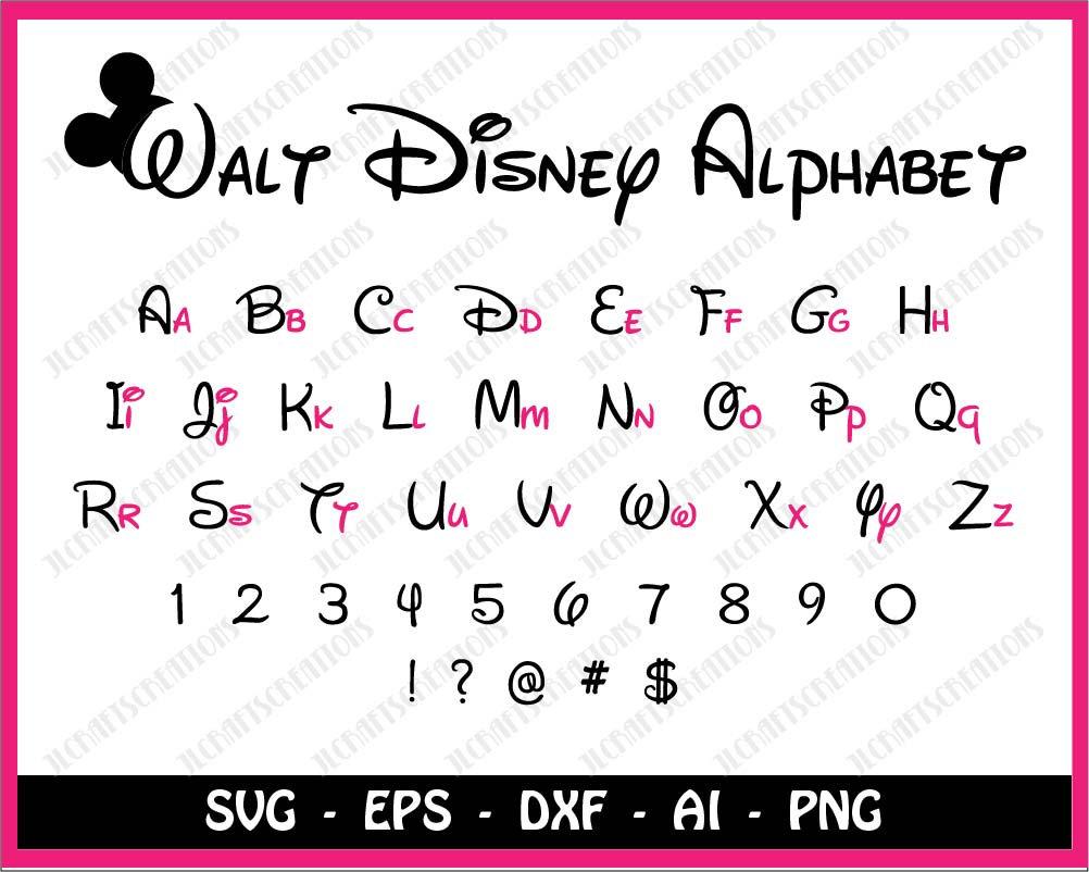 Disney Script Font Alphabet C – Frases e mensagens