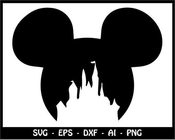mickey mouse svg disney castle svg disney princess svg etsy