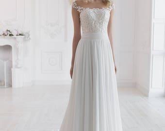 immer beliebt Gutscheincodes heiße Produkte Hochzeitskleid schlicht | Etsy
