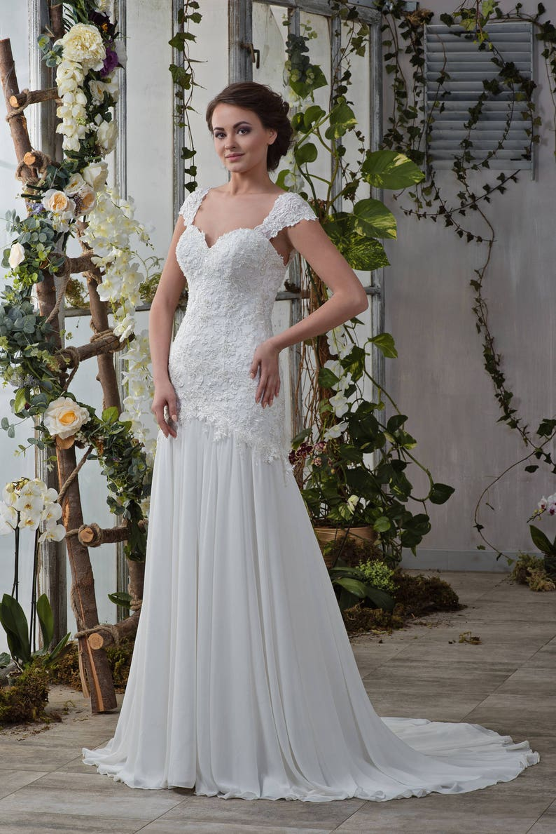 e950a2e9d510 Wedding dress wedding dress helen mermaid mermaid dress plain | Etsy