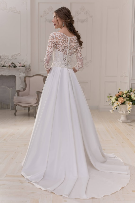 Wedding wedding Brenda dress dress Wedding dress dqZHwUY
