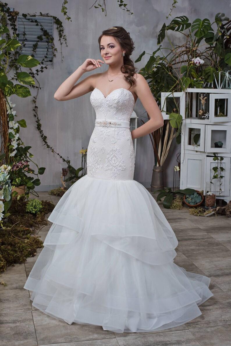 Wedding Dress Wedding Dress Heather Sea Mermaid Mermaid Dress Etsy