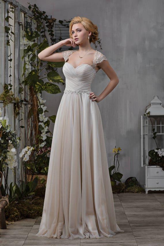 wedding Cappuccino gathering Stella Wedding Empire dress Beadwork wedding Dress dress dress Lace qXqzgtTx
