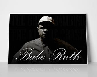 86584c39f0f Babe Ruth The Great Bambino Poster
