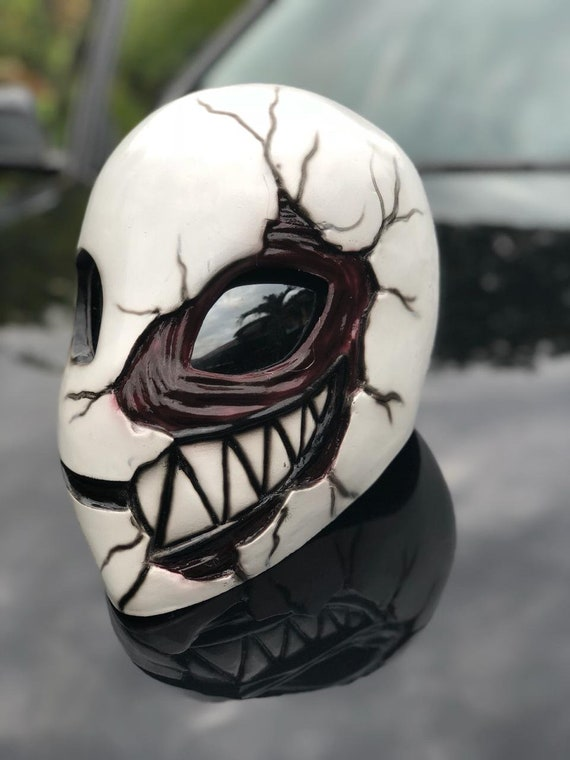 Casque Masque Alien Sourire Pour Halloween Etsy