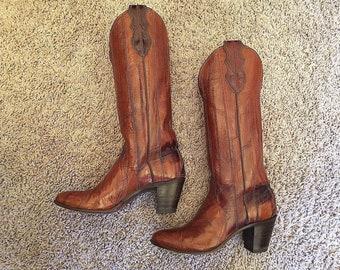 c886a19abec Eel skin boots | Etsy