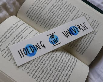 Holding up the Universe | Watercolour bookmark