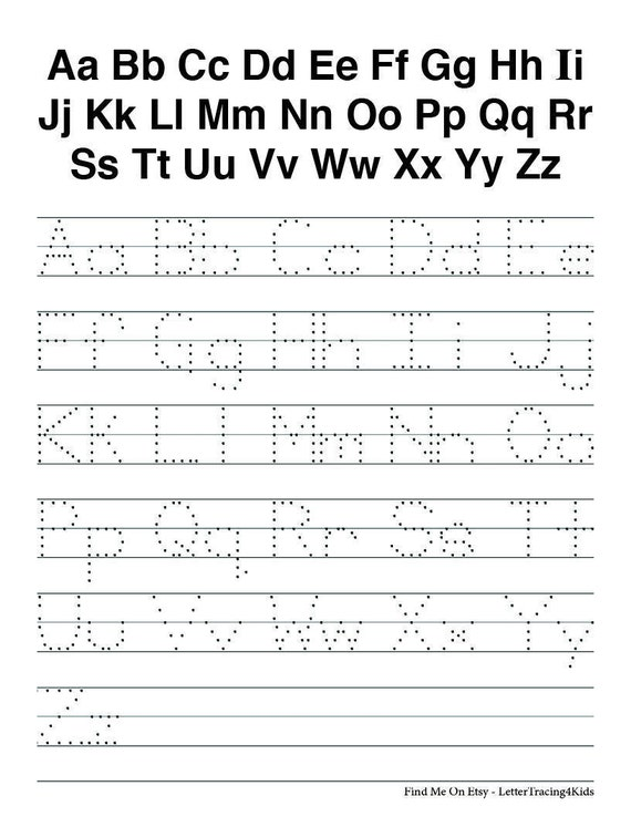Pre school letter tracing abcs etsy image 0 thecheapjerseys Gallery