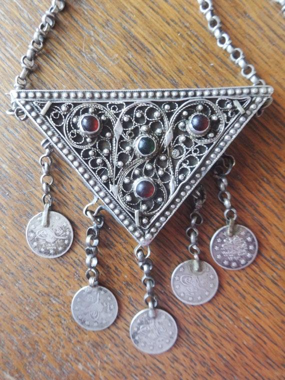 Vintage OTTOMAN Necklace Prayer Box Amulet Muskali