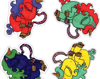 Unicorn Fetus Stickers