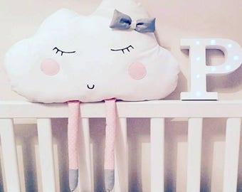 Large Cloud pillow with legs & bow