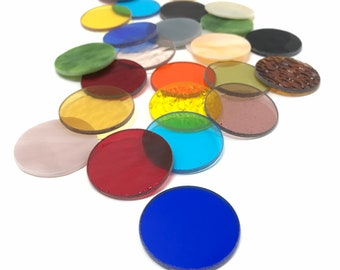 Stained Glass Precut Circles you can't do without Explore the amazing Variety Color Mix Now!