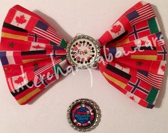 Epcot World Showcase Countries Flags bow