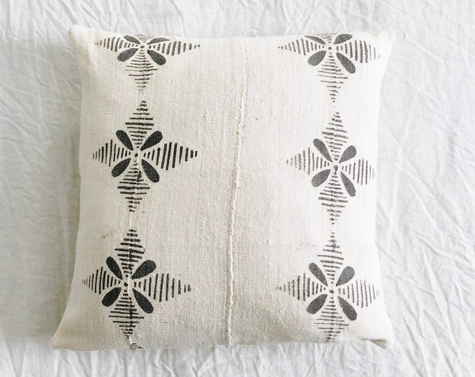 White African Mudcloth Pillow No.60